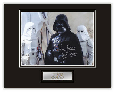 Sale! Star Wars Dave Prowse (Darth Vader) Signed 14x11 Display (DV20)