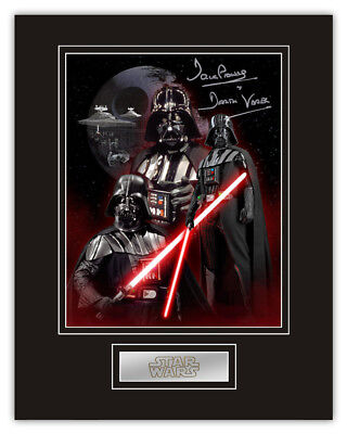 Sale! Star Wars Dave Prowse (Darth Vader) Signed 14x11 Montage Display (DV01)