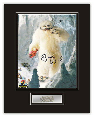 Sale! Star Wars Harold 'Howie' Weed (Wampa) Signed 14x11 Display RARE!