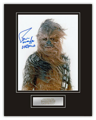 Sale! Star Wars Peter Mayhew (Chewbacca) Signed 14x11 Display
