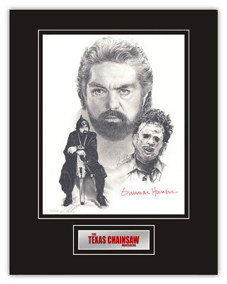 Sale! Texas Chainsaw Massacre Gunnar Hansen (Leatherface) Signed 14x11 Display