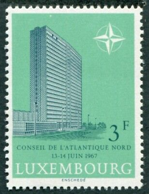 LUXEMBOURG 1967 3f SG801 mint MNH FG NATO Council Meeting #W47