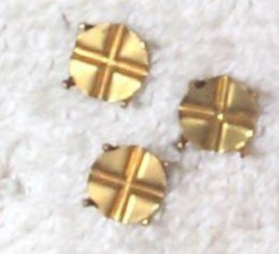 Vintage Brass Round Settings Findings For Beads Rare    20 Pcs