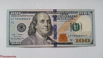 Lucky Rare*serial Number Solid 8886 $100 One Hundred Dollar Bill Unc-