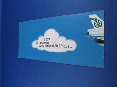 Air Afrique Airline Brochure 1973 Travel Airport Flying Printed In French Dc 10