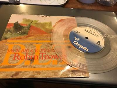 "Robin Trower What it is 7"" Inch Clear Vinyl --CHS2497"