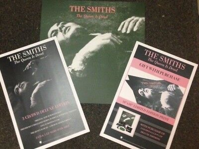 Set of 3 Smiths Promotional Poster for Queen Is Dead LP CD Reissue RARE