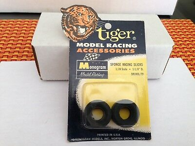 "1/24 Monogram #SR1006 slot car 1/2"" sponge slicks NEW OLD STOCK VINTAGE H"