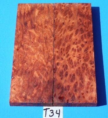 California Redwood Burl Fancy Knife Blank Handle Scales~Exotic Wood Lumber