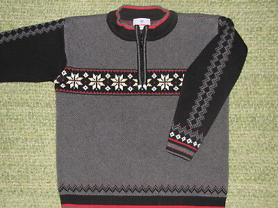 HANNA ANDERSSON Nordic Style 1/4 Zip Sweater 120 Boys 6-7 Perfect For HOLIDAYS