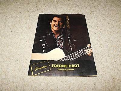Vintage 1970S Freddie Hart And The Heartbeats Program Country Music