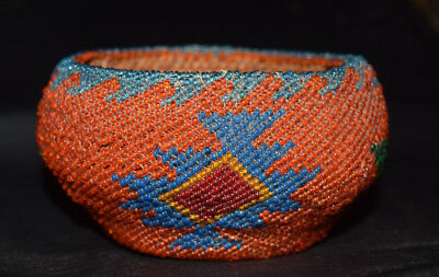 Large Beaded Paiute Washoe Indian Basket Bernheimer Collection Native American