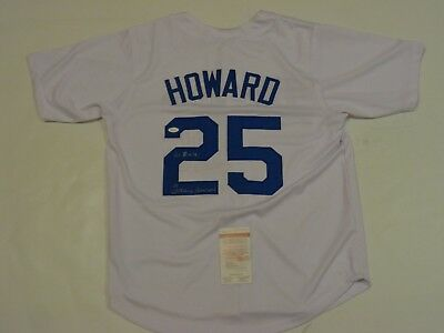 FRANK HOWARD autographed signed Dodgers white jersey 60 ROY JSA Witness