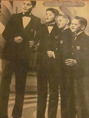 The Osmonds, Donny Osmond, Double Full Page Vintage Pinup, Brothers