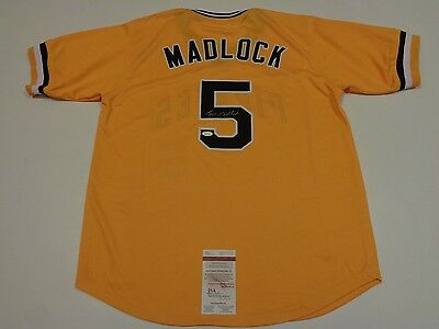 BILL MADLOCK autographed signed Pirates yellow jersey JSA Witness