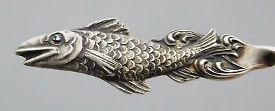 COTTAGE CITY Sterling Silver FISH Souvenir Spoon