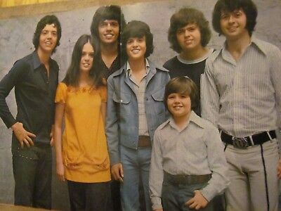 The Osmonds, Donny Osmond, Two Page Vintage Centerfold Poster, Brothers