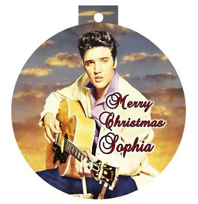 ELVIS PRESLEY Christmas Ornament #3 Personalized Any Name/Message