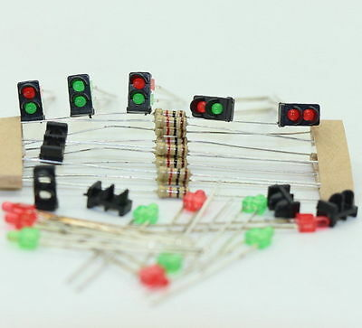 JTD14 10 sets Target Face With LEDs for Railway Dwarf signal N Z Scale 2 Aspects