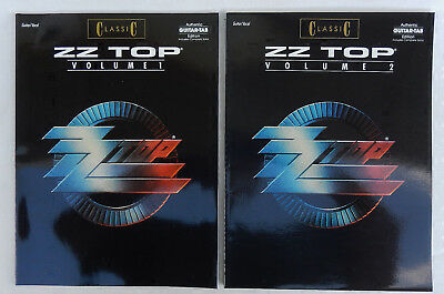 ZZ Top Classic Vol.1 and 2 Authentic Guitar Tab Vocal Book's * OUT OF PRINT!