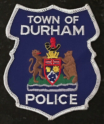 Durham Town Police - Ontario - Canada - White Border Patch - Defunct 2001