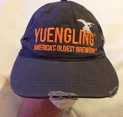 YUENGLING SINCE 1829 Gray Distressed Cap Hat AMERICA'S OLDEST BREWERY VGUC