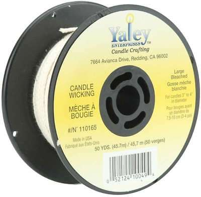 Candle Wicking Spool 50yd Large Bleached  052124100494
