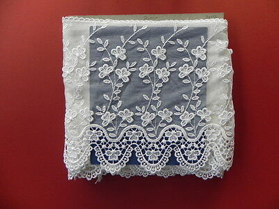 Beautiful New Guipure Lace - White D