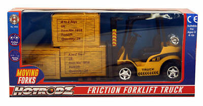 A to Z Childs Kids Toy Friction Powered Forklift Truck Fork Lift New Boxed