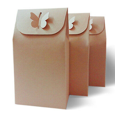 1/5/10pcs Kraft Paper Wedding Carry Present Package Bag Pouch Party 10*6*16cm