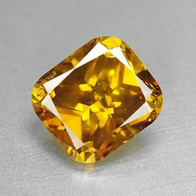 1.05 Cts FANCY TOP SPARKLING QUALITY ORANGE YELLOW COLOR NATURAL DIAMONDS
