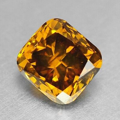 1.37 Cts FANCY TOP SPARKLING QUALITY ORANGE YELLOW COLOR NATURAL DIAMONDS