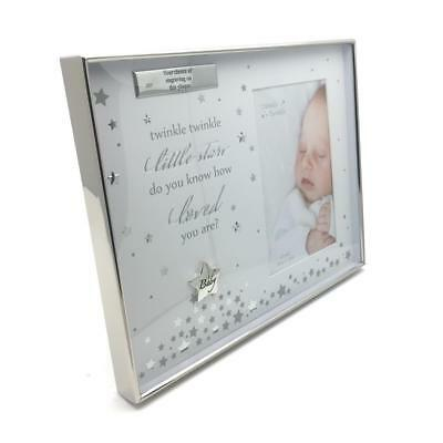 Personalised Baby Photo Frame Silverplated Twinkle Twinkle Star CG1282-P