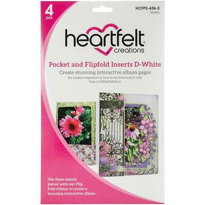 Heartfelt Creations Pocket and Flipfold Inserts D White