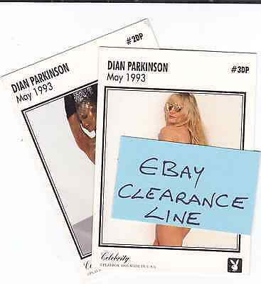 2 Playboy Playmate Celebrity 1993 Dian Parkinson Chase Trading Cards £1.25 2/3DP
