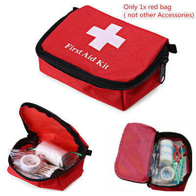 Outdoor Hiking Camping Survival Travel Emergency First Aid Kit Rescue Bag RED