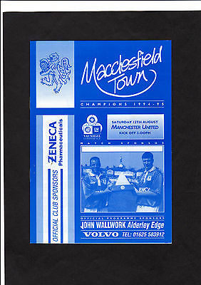 1995  MACCLESFIELD TOWN  vs  MANCHESTER UNITED RESERVES  -  Pre-season.