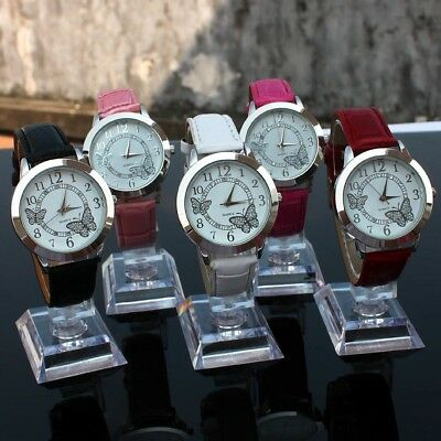 10pcs Wholesales Fashion Silver Butterfly Lady Leather Quartz Wristwatch U16M