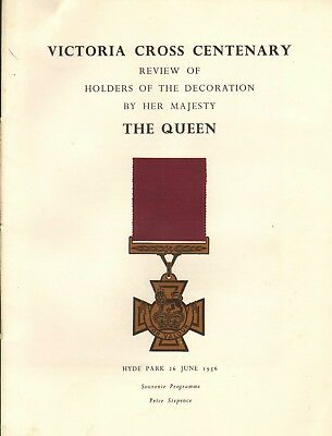 victoria cross centenary review of holders of the decoration by the queen . 1956