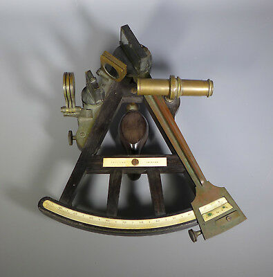 Antique Small Georgian Octant Sextant Ebony And Brass Signed Jeffrey Bo-Ness