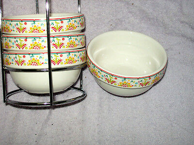 New Four Ceramic Bowls In a Rack