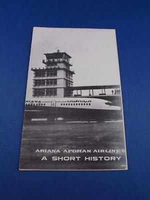 Ariana Afghan Airlines Brochure Booklet A Short History Travel Flying 1974