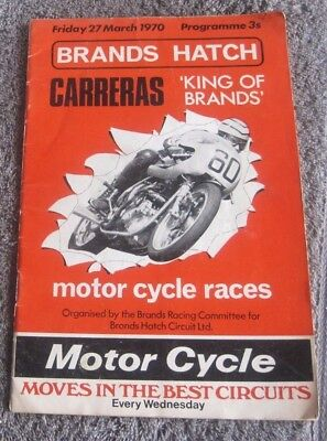 Brands Hatch  Carreras King Of Brands Motor Cycle Races 1970