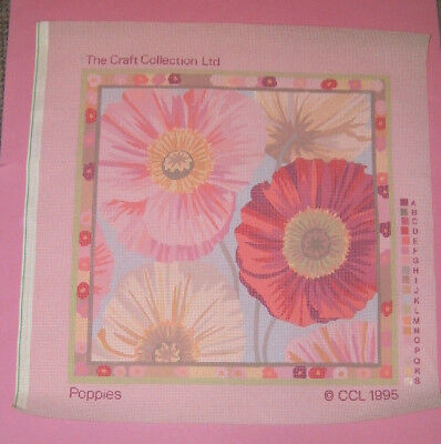 Craft Collection 'Poppies' Printed Tapestry Cushion Canvas