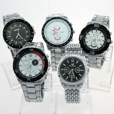 Mixed Bulk 10pcs Fab Luxury Gents Men Watches Quartz Wristwatch Wholesale NST