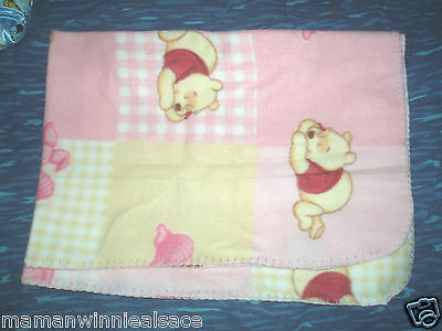 couverture flanelle neuve  winnie porcinet ultra douce 76 x 91 cm