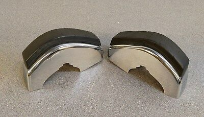 Nice Pair Of Used Original Genuine Porsche 911 912 Front Chrome Bumpers W Strips