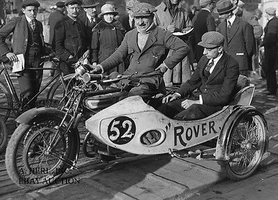 Rover motorcycle Psalty  Argenteuil Hill Climb - 1921 - Photo photograph sidecar