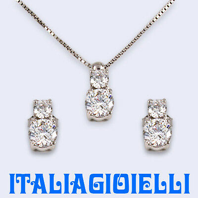Parure Bilogy In Argento 925 Con Brillanti 5,94 Kt;