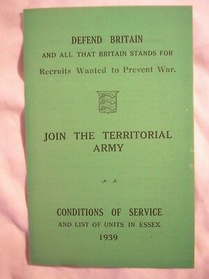 Essex Territorial Army Unit History Locations 1939 TA British Regiment Artillery